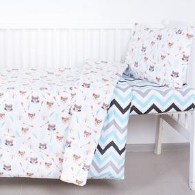 Постельное белье в детскую кроватку из поплина 1976/1+1797/2 фото