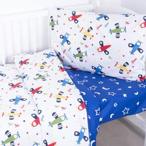 Постельное белье в детскую кроватку из поплина 2014+394/21 фото