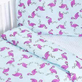 Постельное белье в детскую кроватку 434/2+388А/16 поплин с простыней на резинке фото