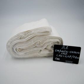 Весовой лоскут Страйп сатин отбеленный 1,8 / 0,08 (+/-2 см) м по 1 кг фото