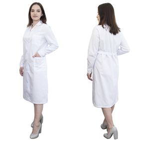 Халат женский классический рукав длинный ТиСи белая 48-50 рост 170-176 фото