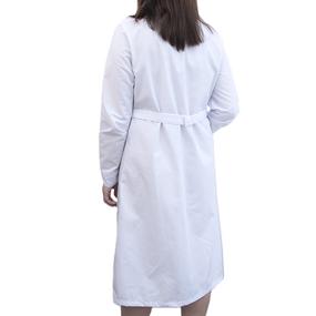 Халат женский классический рукав длинный ТиСи белая 56-58 рост 170-176 фото