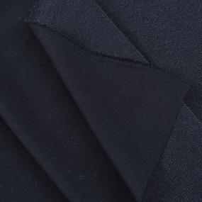Ткань на отрез дублерин трикотажный стрейч 150 см 60 гр/м2 цвет черный фото