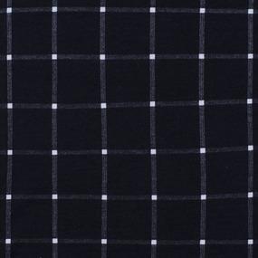 Ткань на отрез кулирка R1075-V1 Клетка цвет черный фото