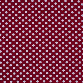 Ткань на отрез перкаль 150 см 251/1 Горох цвет красный фото
