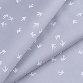 Ткань на отрез перкаль 150 см 306/6 Птички цвет серый фото