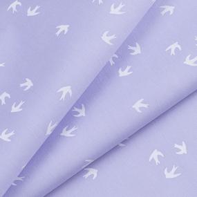 Ткань на отрез перкаль 150 см 306/4 Птички цвет сиреневый фото