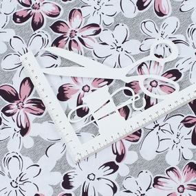Ткань на отрез кулирка R4080-V1 Ромашки фото