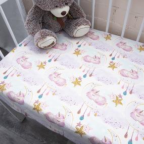 Простыня на резинке перкаль детская 13248/1 Unicorns Модель 2 160/80/15 см фото