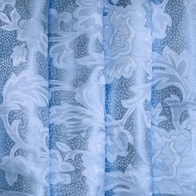 Портьерная ткань 150 см на отрез 68 цвет голубой ветка фото