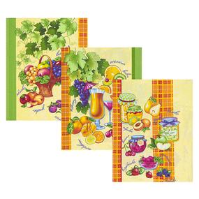 Набор вафельных полотенец 3 шт 50/60 см 10415/1 Фруктовый микс фото