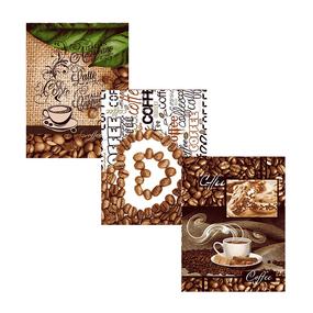 Набор вафельных полотенец 3 шт 50/60 см 10362/1 Кофе фото