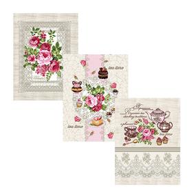 Набор вафельных полотенец 3 шт 50/60 см 10921/1 Чаепитие фото