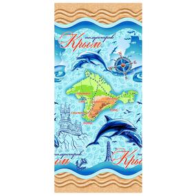 Полотенце вафельное пляжное 11036/1 Крым 150/75 см фото