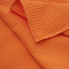 Полотенце вафельное банное Премиум 150/75 см цвет 164 оранжевый фото