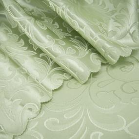 Портьерная ткань 150 см на отрез 100/2С цвет 6 салатовый фото