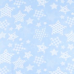 Отрез 150х300 Бязь плательная 150 см 1683/3 цвет голубой фото