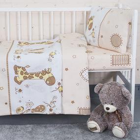 Постельное белье в детскую кроватку 8068/1 Африка бежевый фото