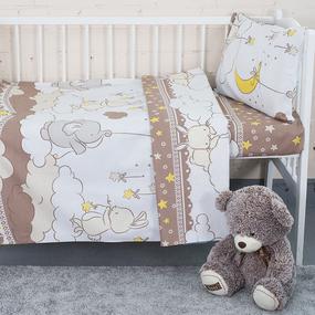 Постельное белье в детскую кроватку 8108/3 Луняшка кофе фото