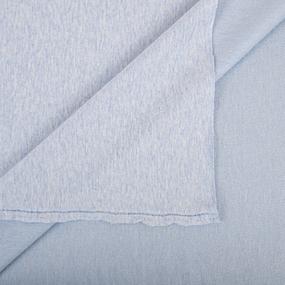 Ткань на отрез футер петля с лайкрой 32-12 меланж цвет голубой фото