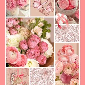 Полотно вафельное 50 см набивное арт 60 Тейково рис 5612 вид 1 Розовый пэчворк фото