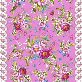 Полотно вафельное 50 см набивное арт 60 Тейково рис 5610 вид 3 Цветочный аромат фото