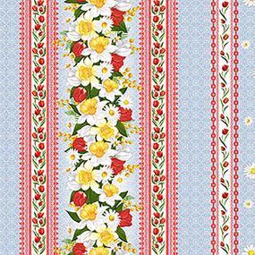 Полотно вафельное 150 см набивное арт 149 Тейково рис 35018 вид 1 Тюльпаны фото