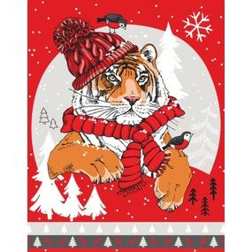 Ткань на отрез вафельное полотно 50 см 29054/2 Тайгер цвет красный фото