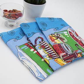 Набор вафельных полотенец 3 шт 50/60 см 383 вид 2 фото