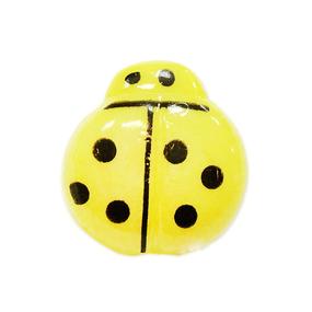Пуговица детская Божья коровка 14 мм цвет св-желтый упаковка 24 шт фото
