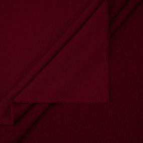 Ткань на отрез футер 3-х нитка диагональный цвет бордовый фото