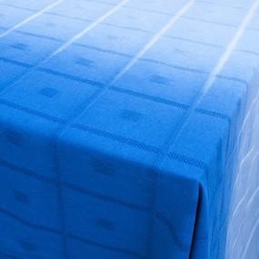 Скатерть жаккард 13 150/150 цвет сине-голубой уценка фото