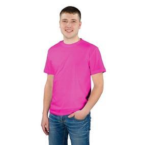 Мужская однотонная футболка цвет малиновый 48 фото