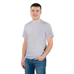 Мужская однотонная футболка цвет светло-серый 48 фото