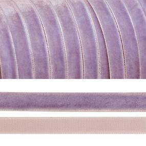 Лента бархатная 6 мм TBY LB0673 цвет сиреневый 1 метр фото