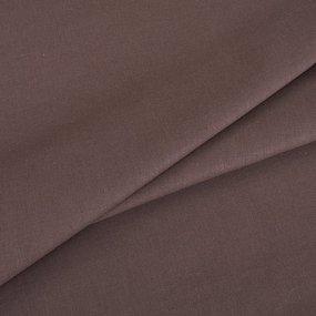 Простынь на резинке поплин цвет мокко 140/200/20 см фото
