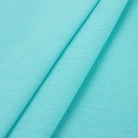 Простынь на резинке поплин цвет тиффани 90/200/20 см фото