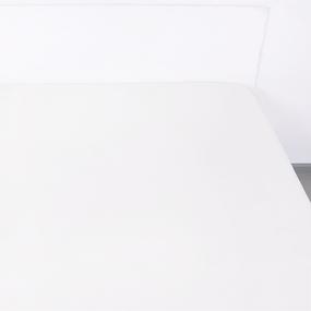 Простынь на резинке поплин цвет белый 90/200/20 см фото