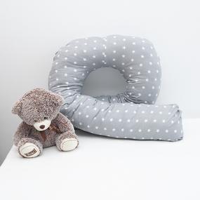 Наволочка бязь на подушку для беременных U-образная 1700/17 цвет серый фото