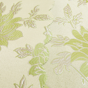 Портьерная ткань с люрексом 150 см Н627 цвет 11 салатовый цветы фото
