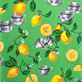 Ткань на отрез вафельное полотно 45 см 144 гр/м2 0915/1 Лимоны фото