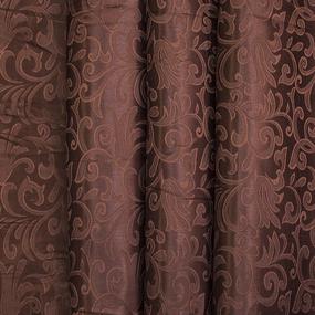 Портьерная ткань 150 см на отрез 100/2С цвет 9 коричневый фото