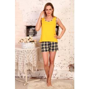 Пижама шорты Аня Желтая Б23 р 42 фото