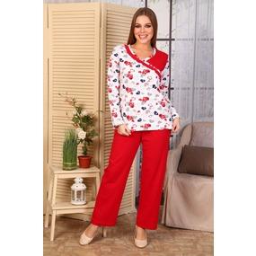 Пижама интерлок красная Б24 р 50 фото