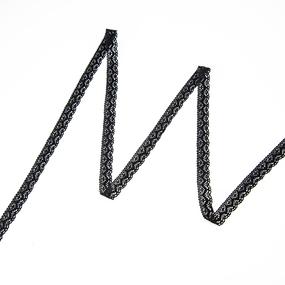 Кружево лен 2196 Черный 1,5 см 1 метр фото