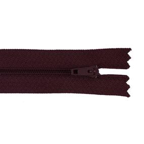 Молния пласт юбочная №3 16 см цвет 179 бордовый фото