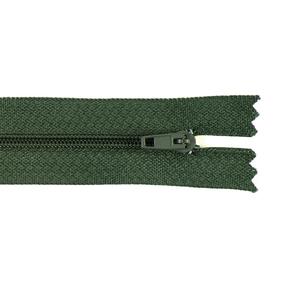 Молния пласт юбочная №3 18 см цвет 266 зеленый фото