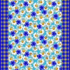 Ткань на отрез вафельное полотно набивное 150 см Полянка 10377/1 фото
