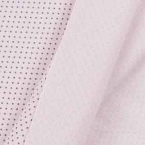 Ткань на отрез интерлок Пшено по выкрасам R165 цвет розовый фото