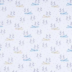 Ткань на отрез интерлок Олени в шарфе R078 фото